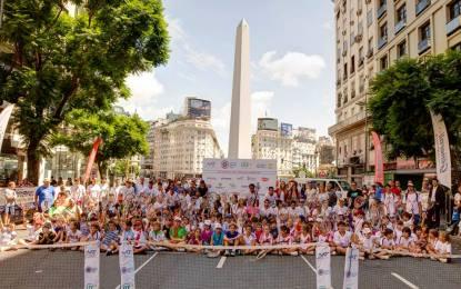 Día Mundial del Tenis en la Avenida 9 de julio