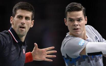 Novak Djokovic y Milos Raonic finalistas del Masters 1000 de París