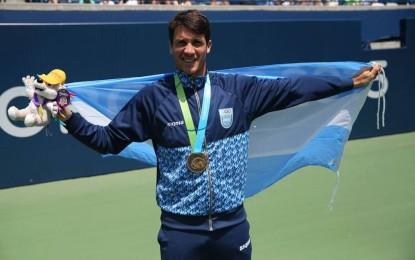 Facundo Bagnis medalla de oro y en dobles junto a Guido Andreozzi medalla de Plata