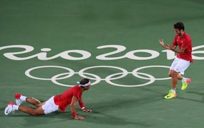 Rafa Nadal y Marc López medalla de oro en dobles