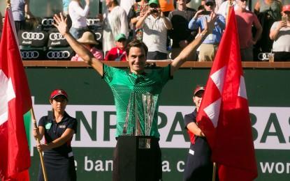 Roger Federer conquista su quinto título del BNP Paribas Open