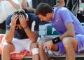Roland Garros: Nicolas Almagro se retira por la lesión en su rodilla durante el partido ante Del Potro
