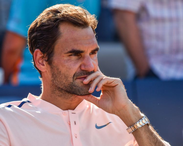 MONTREAL, QC - AUGUST 13:  Roger Federer of Switzerland looks on after his 6-3, 6-4 loss to Alexander Zverev of Germany in the final during day ten of the Rogers Cup presented by National Bank at Uniprix Stadium on August 13, 2017 in Montreal, Quebec, Canada.  (Photo by Minas Panagiotakis/Getty Images)