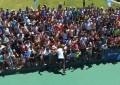 Tandil: Del Potro abrió las puertas a su entrenamiento por una causa justa