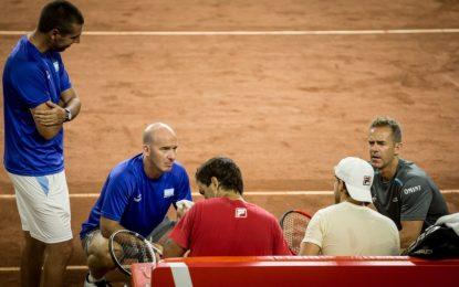 Copa Davis: Argentina se entrenó completa en el Aldo Cantoni de San Juan