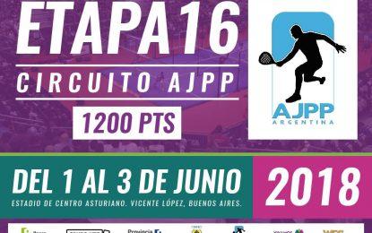Se viene la 16º Etapa del Circuito AJPP de Padel del 1º al 3 de Junio en el Centro Asturiano