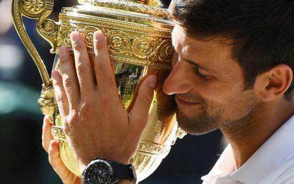 Novak Djokovic y Angelique Kerber conquistaron Wimbledon