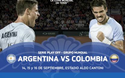 Copa Davis: ya están a la venta las entradas para la serie entre Argentina y Colombia