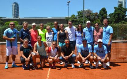 Fed Cup: comenzó el ciclo de Mercedes Paz con un campus en el Buenos Aires Lawn Tennis Club