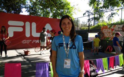 Romina Puglia y el espacio Mini Fila Kids en el Argentina Open