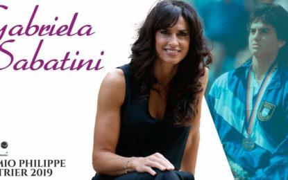 Gabriela Sabatini será premiada en París