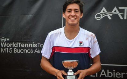 M15 Buenos Aires 4 Copa El Abierto: Sebastián Báez se consagró campeón