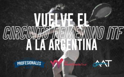 La AAT confirma dos fechas del Circuito Femenino ITF en la Argentina