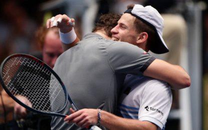 Viena : Diego no pudo con Dominic pero se alegró por el triunfo de su amigo