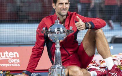Novak Djokovic se coronó en el ATP 500 de Tokio