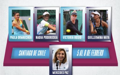 Fed Cup: equipo confirmado para viajar a Chile