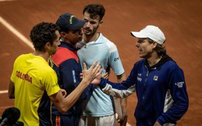 Argentina cayó ante Colombia y jugará las series de Grupo Mundial I de la Copa Davis