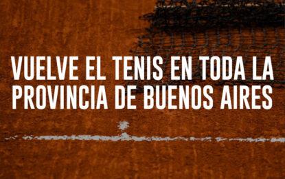 Vuelve el tenis en toda la Provincia de Buenos Aires