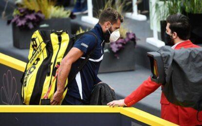 ATP de Hamburgo: Benoit Paire luego de padecer Covid 19 jugó y abandonó el partido
