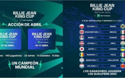 Billie Jean King Cup: Argentina jugará en abril