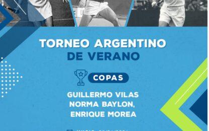 Un nuevo torneo por equipos de la AAT pone en juego las Copas Guillermo Vilas, Norma Baylon y Enrique Morea