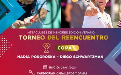 Un Interclubes de Menores en verano con las Copas Diego Schwartzman y Nadia Podoroska