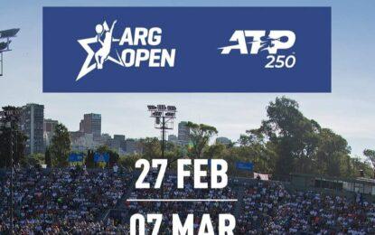 El Argentina Open 2021 tiene fecha confirmada: del sábado 27 de febrero al domingo 7 de marzo