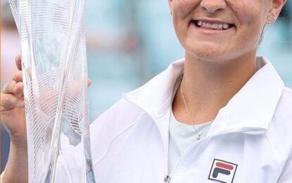 Miami Open : Segundo titulo para Barty y las lagrimas de Andreescu por la lesión .