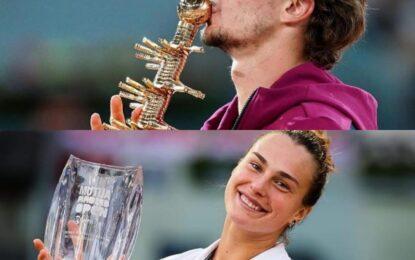 Zverev y Sabalenka conquistaron el Mutua Madrid Open