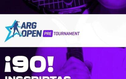 Récord: 90 jugadoras en el Argentina Open Pre-Tournament